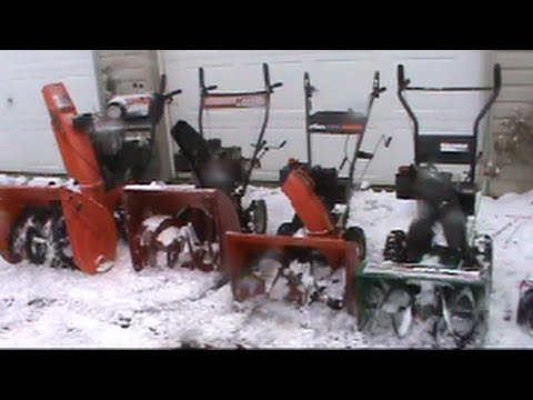 Snowblower Review 5 Models Please Read Description