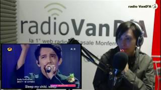 Dimash SOS FIRST REACTION! Radio VanD'A , Italy