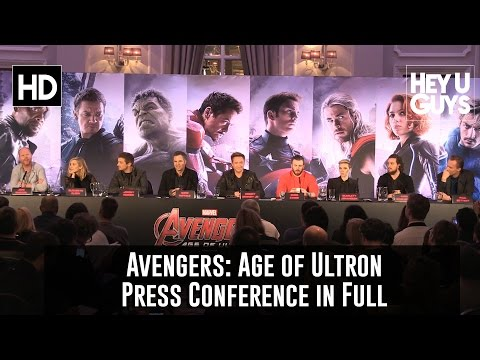 Avengers: Age of Ultron Press Conference in Full (Whedon, Johansson, Ruffalo, Evans)