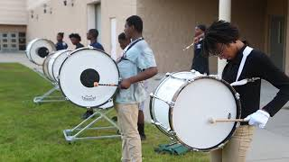Muskegon Heights drumline practices for homecoming performance