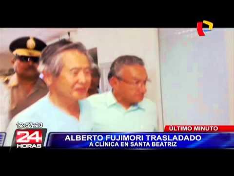 Alberto Fujimori fue trasladado a una clínica local