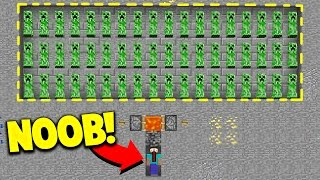 HOW TO TRAP NOOBS! (Minecraft Skywars Trolling)
