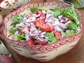 Recipe for Amazing Strawberry Spinach Salad, Quick and Easy Side Dish