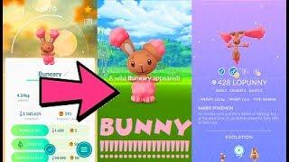 Pokemon Go Shiny Buneary Catch & Lopunny Evolution After 290 Tries