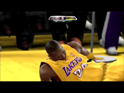 2K10 LA Clippers @ LA Lakers: Kobe Injured?!
