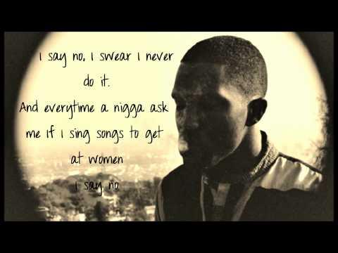 Frank Ocean- Songs for women (2011 Lyrics On Screen)