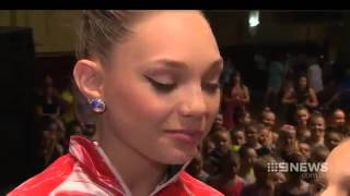 The Dance Moms Girls & Maddie Ziegler Get Interviewed On Channel 9 News In Austrailia !