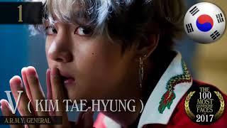 BTS V Kim Taehyung #1 most handsome face 2017