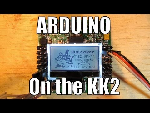 RCHacker #5 - Arduino on the KK2 Multi rotor control board. Test code demonstration.