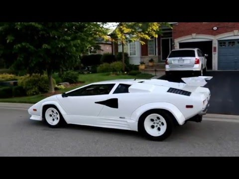 lamborghini countach replica kit car close up drive by and exhaust sound. Black Bedroom Furniture Sets. Home Design Ideas