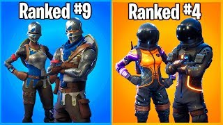 RANKING COUPLE SKINS IN FORTNITE FROM WORST TO BEST!
