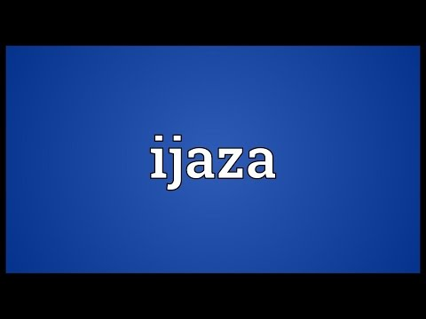 Header of ijaza