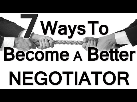 how to become a better negotiator Unfortunately, negotiation is rarely a walk in the park, but since it's a fact of working life, it's good to know the basics the following are expert tips on negotiation, whether you're vying for a higher salary, a longer maternity leave or the right to wear flip-flops to the office this summer.