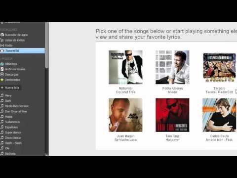 Tunewiki Convierte Spotify en un karaoke sincroniza letras de tus canciones favoritas