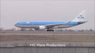 KLM A330 Takeoff at YYC (Filmed with Cjets Planespotting)ᴴᴰ