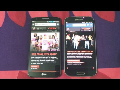 SAMSUNG GALAXY S4 VS LG G2 BROWSING SPEED COMPARISON