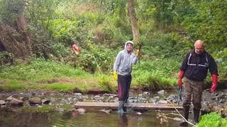 magnet fishing our 2nd river (she filled her wellies)