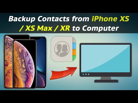 How to Backup Contacts from iPhone XS / XS Max / XR to Computer