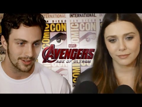 Aaron Taylor-Johnson & Elizabeth Olsen Talk Avengers 2 Age of Ultron - Comic Con 2014