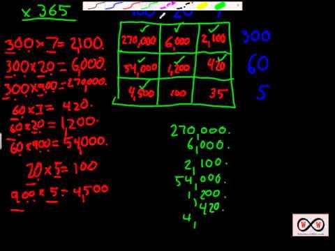 Multiplication - The Distributive Grid Method Word Problems (4-NBT-4 ...