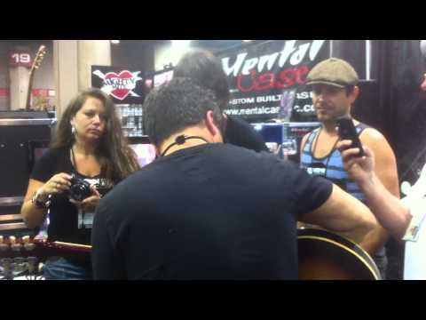 Brent Mason at the Wampler booth - Summber NAMM 2012