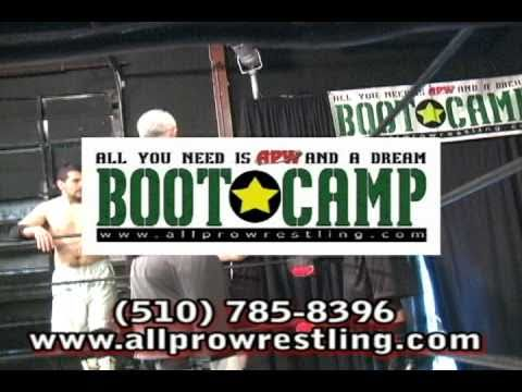 Do you have the dream of being a pro wrestler, manager, valet, or referee? Watch this promotional video for the APW Boot Camp and call 510-785-8396 to get al...