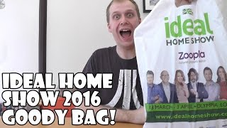 Ideal Home Show 2016 Goody Bag