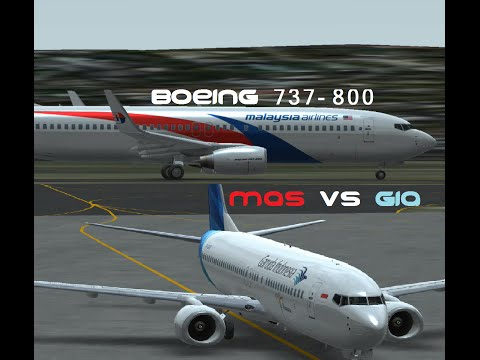 Infinite Flight Simulator: Malaysia Airlines & Garuda Indonesia Boeing 737-800