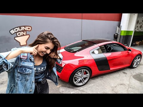 MAYBE THE LOUDEST AUDI R8 IN THE WORLD?  *EMELIA VLOGS*