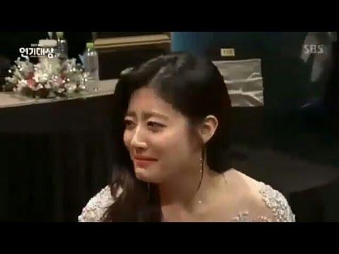 171231 Nam Ji Hyun Cried when Won Best Excellence artist Award at SBS Drama Awards 2017..