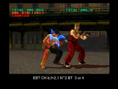 TEKKEN 3 Jin - secret moves, rare custom combos 1.4