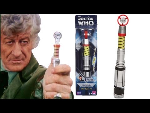 DOCTOR WHO Third Doctors Sonic Screwdriver (Re Release) Toy Review   Votesaxon07