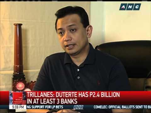 Trillanes: Duterte should disclose bank transactions