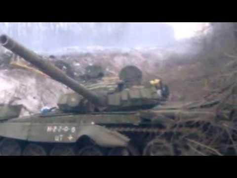 The defeat of the tank group of Russian terrorist troops under Debaltseve 05 02 2015.Ukraine War,Tod