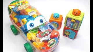Đồ chơi trẻ em, đồ chơi xếp hình trong ô tô đồ chơi,  tháp xếp chồng cho bé yêu