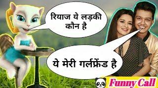Pahadan New Song Riyaz Vs Billu Comedy Funny call   Riyaz Tik Tok Video by Tom with fun