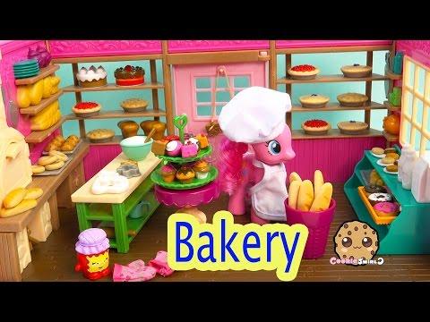 Lil Woodzeez Tickle Your Taste Buds Cupcake Bread Bakery Playset with My Little Pony Pinkie Pie thumbnail