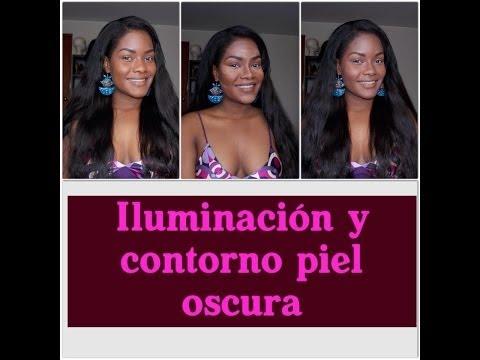 Iluminacion y Contorno Pieles Oscuras/ Como Perfeccionar Tu Rostro sin cirugías ...TUTORIAL DC