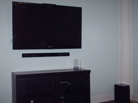 How to  Conceal wires behind flat panel HD TV