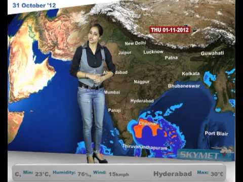 Skymet Weather Report - India October 31, 2012