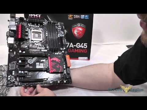 MSI Z77A-G45 Gaming Motherboard Unboxing + Overview and Benchmarks