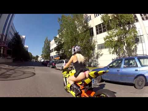 Bomber Babe 2014 rides KTM RC8R Bee-DrifteR