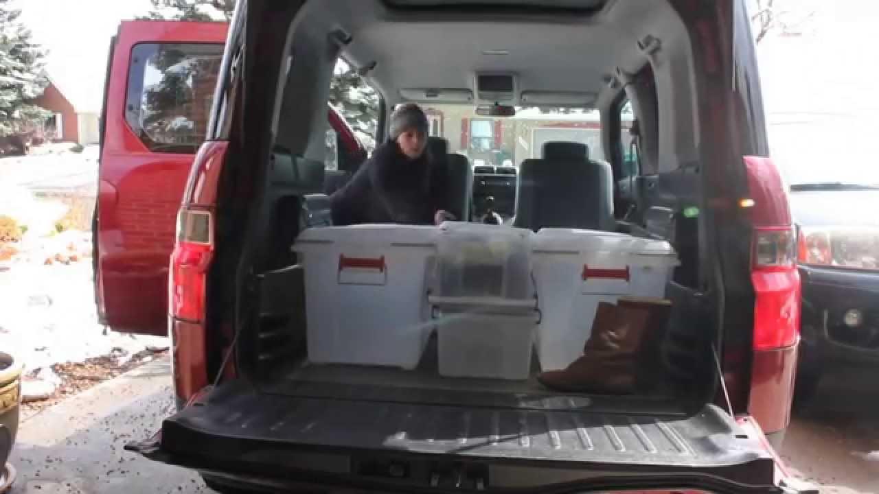 Honda Element Sleeping Camping System Youtube
