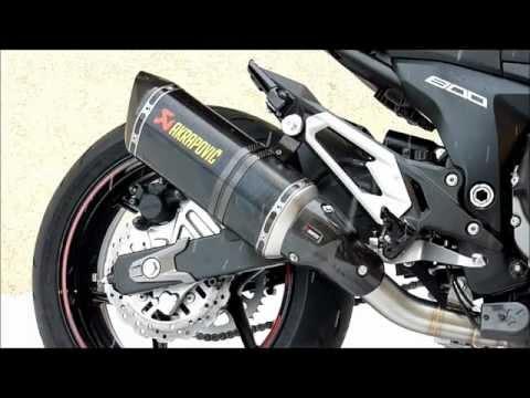 Kawasaki Z800 2013 en Akrapovic