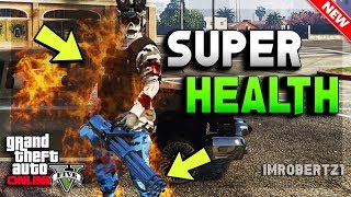 GTA 5 Online Super Health Glitch! Ballistic Equipment Strength Modded Clothing (GTA 5 Glitches)