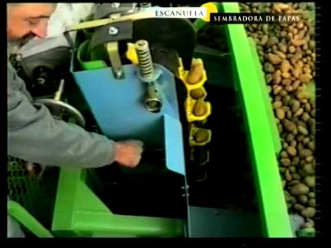 Sembradora de papas de 4 surcos Modelo ST400 ESCAÑUELA