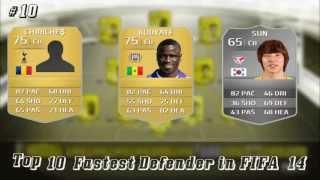 أسرع 10 مدافعين في فيفا 14 | Top 10 fastest defenders in fifa 14
