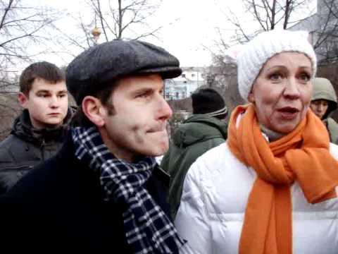 Шац и Лазарева на митинге в Е-бурге