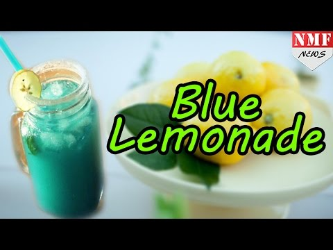 How to make MOCKTAIL BLUE LEMONADE