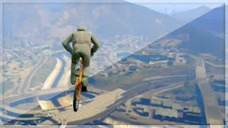 Insane BMX Sky Race (GTA 5 Funny Moments)